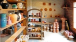 Vue actuelle de la boutique, vente d'objets tournés